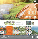 Paper House THE GREAT OUTDOORS CAMPING Scrapbooking Kit 12x12 Papers