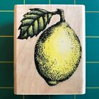 Rubber Stampede A254 E Lemon Wood Mounted Rubber Stamp Fruit Food Gently Used