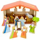 Toy Playset 14 piece Christmas Holiday Traditional Nativity Kids Toys Playsets