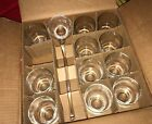 Vintage 1968 Roly Poly Crystal Punch Glasses w/ Ladle replacements 8oz.