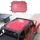 For Jeep Wrangler JK 4 Door Five Star Roof Mesh Sunshade Top Cover UV Protection