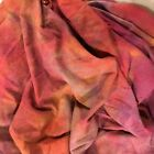 Hand Dyed silk Fabric silk noil  30 x 44 inches
