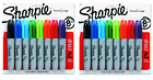 Sharpie Permanent Markers Chisel Tip Assorted Colors 2 Pack 16 Markers Total