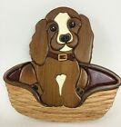 Wooden Dog Carved Intarsia Wall Art 3D Dog Lover Hanging Hand Crafted Handmade