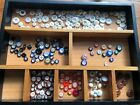 Antique Lot 252 +/- asstd China Buttons Great Variety Crafts Collectibles 514-20