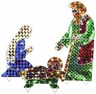 Holographic Lighted Christmas Nativity Set Great for Yard Garden Decoration 42