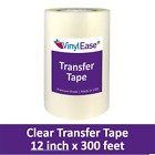12 in x 300 ft Roll Clear HIGH TACK Transfer Tape for Sign Craft Vinyl V0801