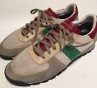 Burberry Mens Size 43 Beige Suede Leather Sneakers Green Detail 450
