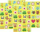 4 Sheets THE ZOO Scrapbook Stickers Animals Lion Monkey Alligator