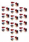 14 Small Sheets PROVO Craft Red White Blue Country HEARTS Scrapbook Stickers