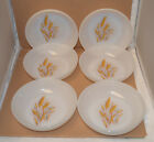 6 Fire-King Wheat Pattern Soup / Cereal Bowls 61/2