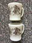 Vintage Davy Crockett Coffee Mugs Anchor Hocking Fire King Ware