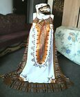 2pcs long African print dress large scaf size L plus size fit chest up to 50Rin
