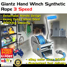 3 Speed Hand Electric Winch Synthetic Rope ATV 4wd Boat