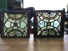 Antique 1850s Gothic Revival Stained Glass Vent Windows From Church