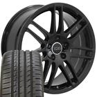 CP 18 Rims Fit Audi RS4 Style Black 666 Ironman iMove Tires