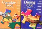 2 Weight Watchers 2002 Winning Points COMPLETE FOOD  DINING OUT COMPANION Books