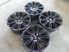 20 AUDI A8 S8 RS A6 S6 2015 2018 WHEELS RIMS NEW OEM GLOSSY BLACK NEW SET OF 4