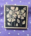 Magenta Mounted Rubber Wooden Stamp flowers