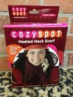 Sunbeam SCRF385Cozy Spot Scarf Battery Operated Electric Heated Red NEW GIFT HOT