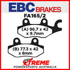 Cagiva E 900 ie Lucky Explorer 90 EBC Organic Carbon Rear Brake Pads, FA165/2TT