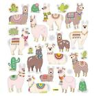 Scrapbooking Crafts Stickers Llama Fun Cactus Colorful Blankets Collars Flowers