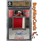 05-06 Lebron James Exquisite Limited Logos Patch Auto 50 BGS 9.5 w 10 Centering