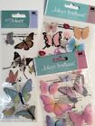 Jolees Lot Butterfly Scrapbooking Stickers Packages Glittered Spring Cards