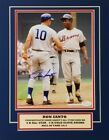 Ron Santo Signed Chicago Cubs Matted 11x14 Display w Hank Aaron (JSA COA)