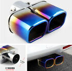 24 Car Auto Round Exhaust Tip 1 to 2 Dual Pipe Durable Stainless Steel Chrome