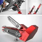 Motorcycle Adjustable Side Tripod Holder Durable Alloy Fashion Design Red+Black
