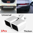 25 Stainless Steel Auto Car Exhaust Pipe Muffler Tip CURVED 1to2 Twin End Tip