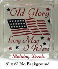 Old Glory Decal Sticker for 8 Glass Block DIY Crafts