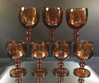 Amber Goblets---Set of (7)--Very Heavy and Excellent Condition--BUT IT NOW!