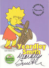 The Simpsons 10th Anniversary - A3 Yeardley Smith Autograph Card
