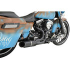Python Matte Black Rayzer 2 into 1 Exhaust for 2007 16 Harley Touring Models