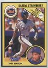 1991 Starting Lineup Cards Black Back Cut from sheet Darryl Strawberry #18