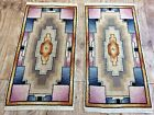 Pair Of Art Deco Rugs With Geometric Design Double Sided Handwoven