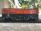 Used G Scale USA TRAINS Great Northern Boxcar modified with a speaker