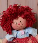 Primitive Raggedy Ann Art Doll Handcrafted Vintage Farmhouse Home Decor Flower