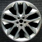 Ford Edge Polished w Charcoal Pockets 20 inch OEM Wheel 2015 2017 FT4Z1007F F