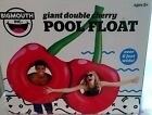 BIG MOUTH INC GIANT DOUBLE CHERRY SWIMMING POOL FLOAT RAFT 6 WIDE