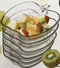 NEW! Vintage 6 piece SWEET APPLE SET MACEDONIA Glass Crystal Fruit Salad Bowls