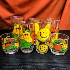 7 Vintage Tumblers Nancy Lynn Anchor Hocking Fruit Face~Hazel Atlas Smiley Faces
