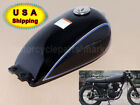 For SUZUKI GAS FUEL TANK METAL CAFE RACER SCRAMBLER BOBBER GN125 GN250 Black USA