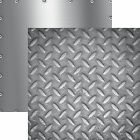 Reminisce DIAMOND PLATE 12x12 Dbl Sided 2pc Scrapbooking Paper