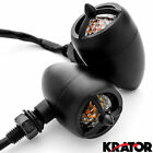 Black Pair of Front or Rear Turn Signals Indicator Blinker Lights Engine Blade