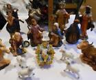LARGE 19 pc Vintage Nativity marked ITALY Tallest 8 UNBREAKABLE FOR KIDS