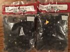Lot Of 2 Sealed Pkgs Fibre Craft Black 10mm Facet Beads