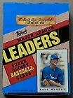 1986 Topps Major League Leaders Super Glossy Baseball Cards 4 Box Lot